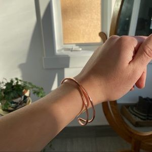RoseGold cuff bracelet from Tribe Alive